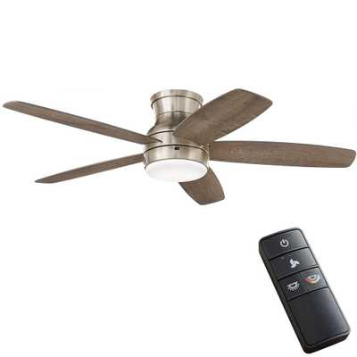 Ashby Park 52 in. Integrated Color Changing LED Brushed Nickel Ceiling Fan with Light Kit and Remote Control - Home Depot