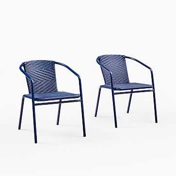 Aww Stacking Chair Lapis, Set of 2 - West Elm