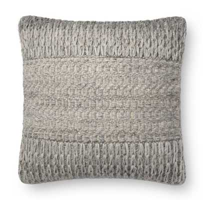 JAYNIE PILLOW, GRAY - with poly insert - Lulu and Georgia