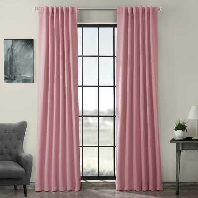 Destinie Solid Room Darkening Thermal Rod Pocket Curtain Panels - Set of 2 - Precious Pink - Wayfair