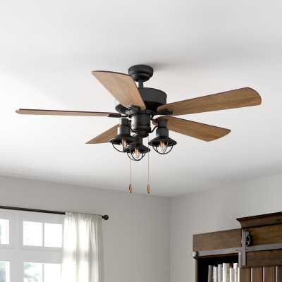 """52"""" Ravello 5 Blade LED Ceiling Fan, Light Kit Included - Wayfair"""