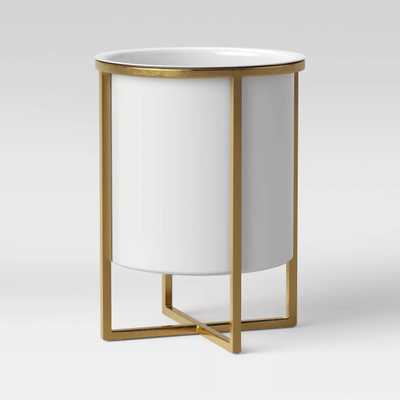 Iron Planter With Brass Stand White - Project 62™ - Target