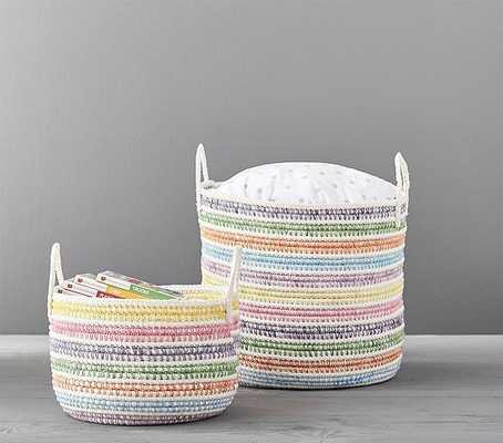Pastel Rainbow Storage, Large - Pottery Barn Kids