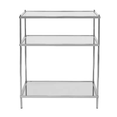 Janelle Glass Top End Table - Wayfair