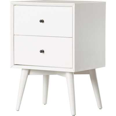 Parocela 2 Drawer Nightstand, White - AllModern