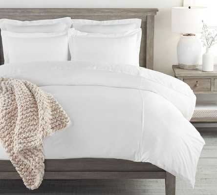 PB Essential Duvet Cover, King/Cal King, White - Pottery Barn