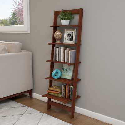 Wabansia Ladder Bookcase - Cherry - Wayfair
