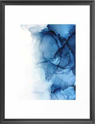 Blue Tides - Alcohol Ink Painting Framed Art Print - Society6