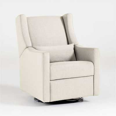 Babyletto Kiwi Cream Power Recliner & Swivel Glider in Eco-Performance Fabric - Crate and Barrel