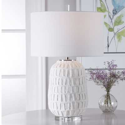 Caelina Textured White Table Lamp - Hudsonhill Foundry