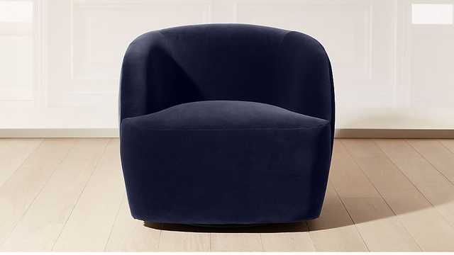 GWYNETH NAVY VELVET CHAIR - CB2