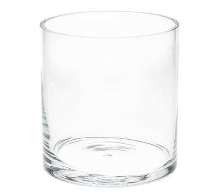 Aegean Clear Glass Short Vase - Pottery Barn