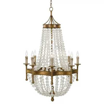 Frosted Crystal Bead Chandelier design by Regina Andrew - Burke Decor