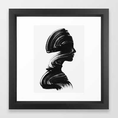 See Framed Art Print - Vector Black - 12 x 12 - Society6