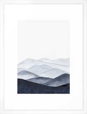 Watercolor Mountains Framed Art Print - Society6