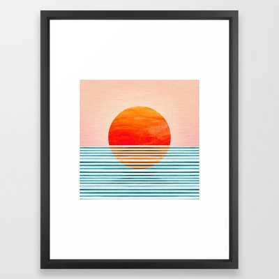 Minimalist Sunset III Framed Art Print by moderntropical - Society6