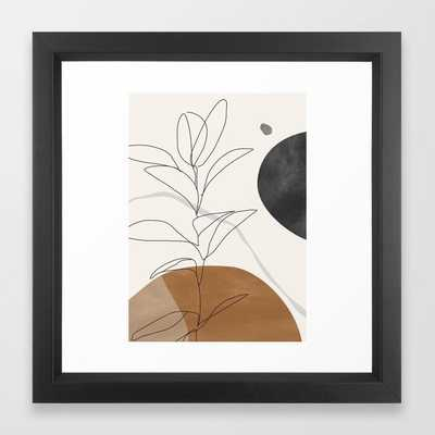 Abstract Art /Minimal Plant Framed Art Print - Society6
