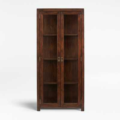 Morris Chocolate Brown Bookcase - Crate and Barrel