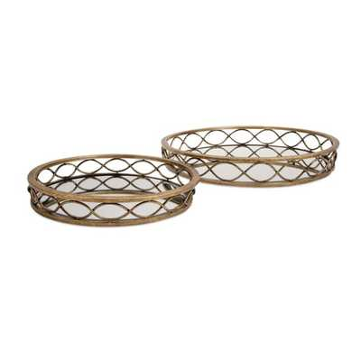 Prestco Mirrored Trays - Set of 2 - Mercer Collection