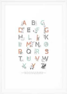 Animal Alphabet Framed Art Print by Amy Hamilton - Society6