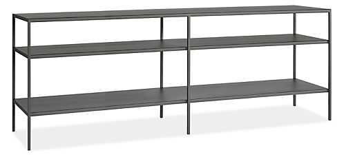 "66""W Slim Media Consoles in Natural Steel - Room & Board"