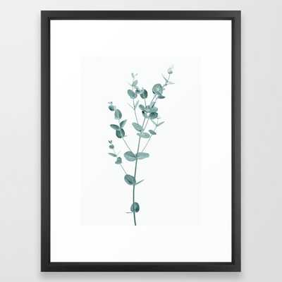 Minimal Eucalyptus Framed Art Print - Society6