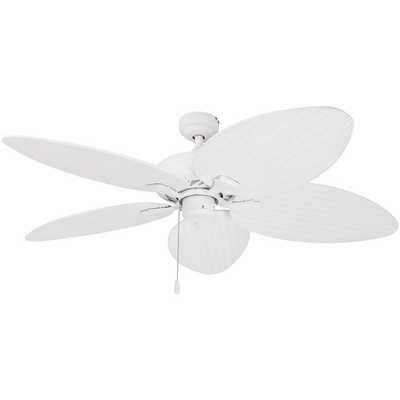 """52"""" Cosgrave Palm Tropical 5 Blade Ceiling Fan, Light Kit Included - Wayfair"""