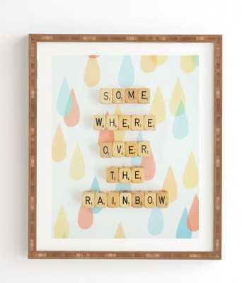 SOMEWHERE OVER THE RAINBOW Framed Wall Art - Wander Print Co.