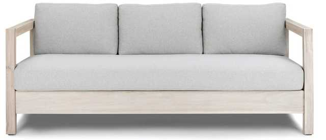 Arca Sunwash Gray Sofa - Article