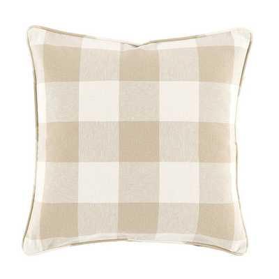 """Buffalo Check Pillow/ Natural / 20""""x20"""" - Ballard Designs"""