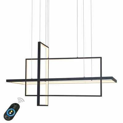Black Lancashire 3-Light LED Unique / Statement Geometric Chandelier - Wayfair