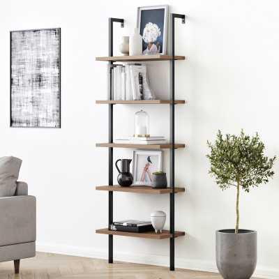 "Zachary 72.5"" H x 24"" W Metal Ladder Bookcase - Wayfair"