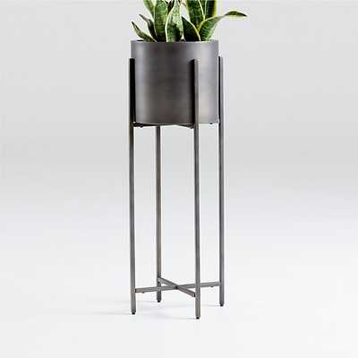 Dundee Bronze Floor Planter with Tall Stand - Crate and Barrel