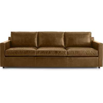 "Barrett Leather 103"" Grande Track Arm Sofa - Crate and Barrel"