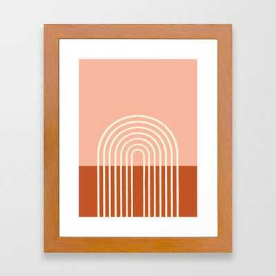 Terracota Pastel Framed Art Print - Society6