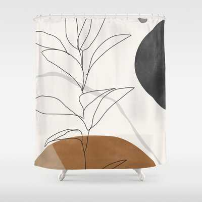 Abstract Art /Minimal Plant Shower Curtain - Society6