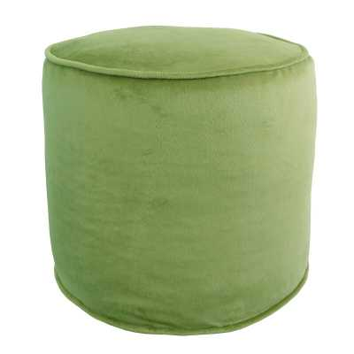 Wessels Plush Pouf, ivy - Wayfair