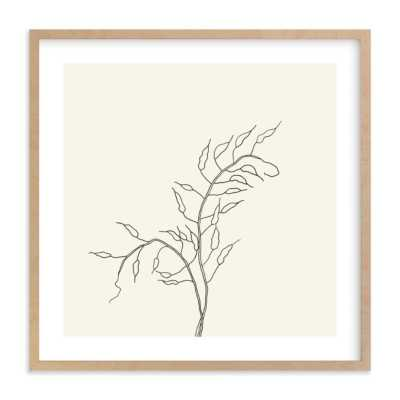 "Wild Radish // 16"" x 16"" // Natural Raw Wood Frame // White Border - Minted"