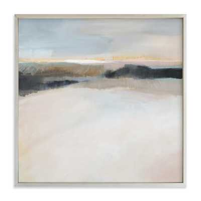 "A Winter's Walk - 30"" x 30"", champagne silver frame - Minted"