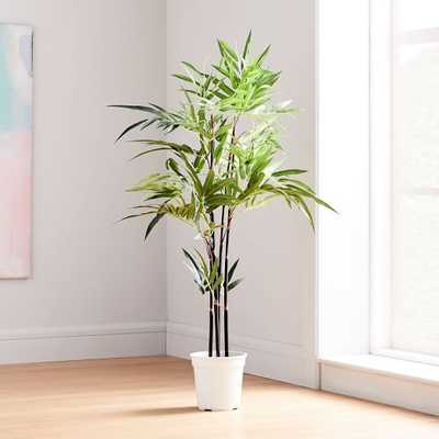 Faux Potted Green Fern Plant Tree - West Elm