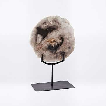 Petrified Wood Object on Stand, Small - West Elm
