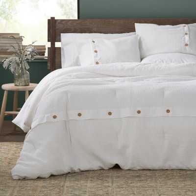 Carmella 3 Piece 100% Cotton Duvet Cover Set - Queen - Wayfair