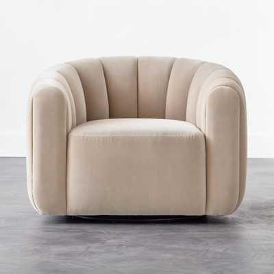 Fitz Grey Swivel Chair - CB2