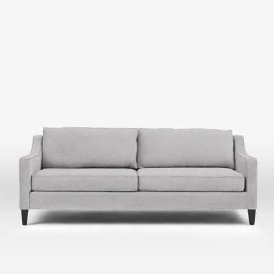 """Paidge 86.5"""" Sofa /  Poly / Taper Chocolate/  Chenille Tweed, Frost Gray - West Elm"""