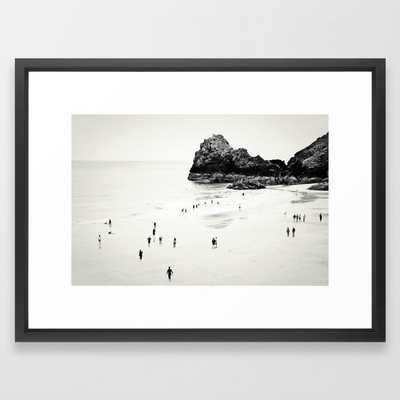 "Cornwall beach life Art Print - 20"" x 26"", Vector Black Frame - Society6"