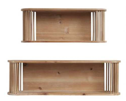 Oval Natural Rattan And Wood Sydney Wall Shelf - World Market/Cost Plus