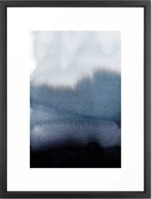 "In Blue Art Print, FRAME Vector Black, Medium (gallery) - 20"" X 26"" - Society6"