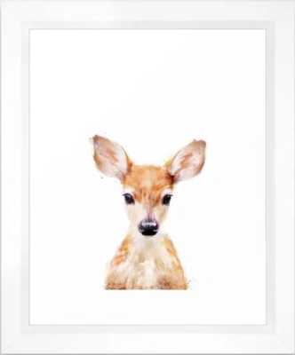 Little Deer Framed Art Print- frame Vector white - Society6