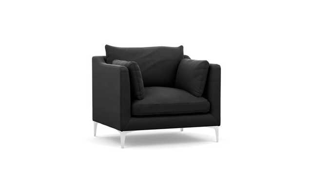 CAITLIN BY THE EVERYGIRL Accent Chair - Smoke Structured Cloth - Interior Define