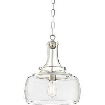 "Charleston 13 1/2"" Wide Brushed Nickel LED Pendant Light - Lamps Plus"